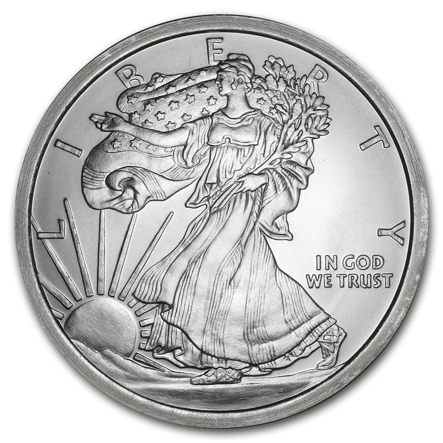 5 oz Silver Round - Walking Liberty
