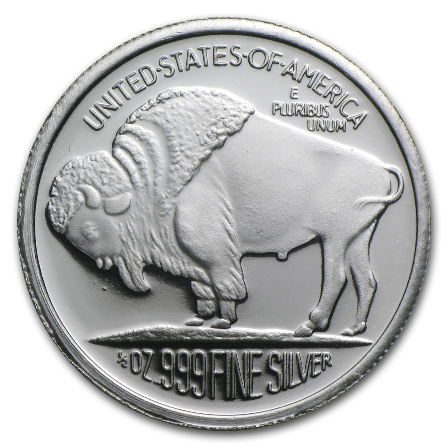 1 2 Oz Silver Round 2015 Buffalo Fractional Less Than