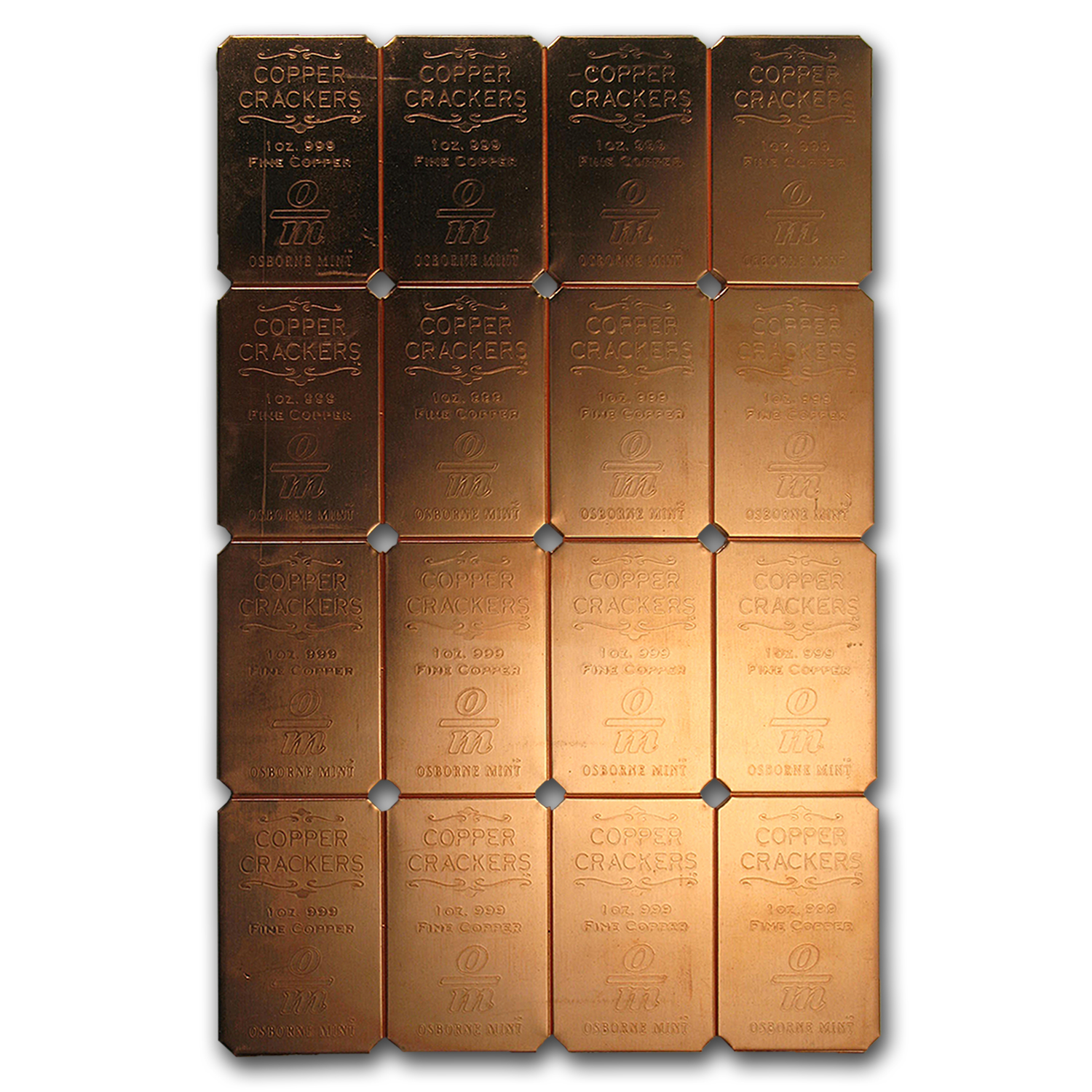 16x 1 oz Copper Bar - Cracker