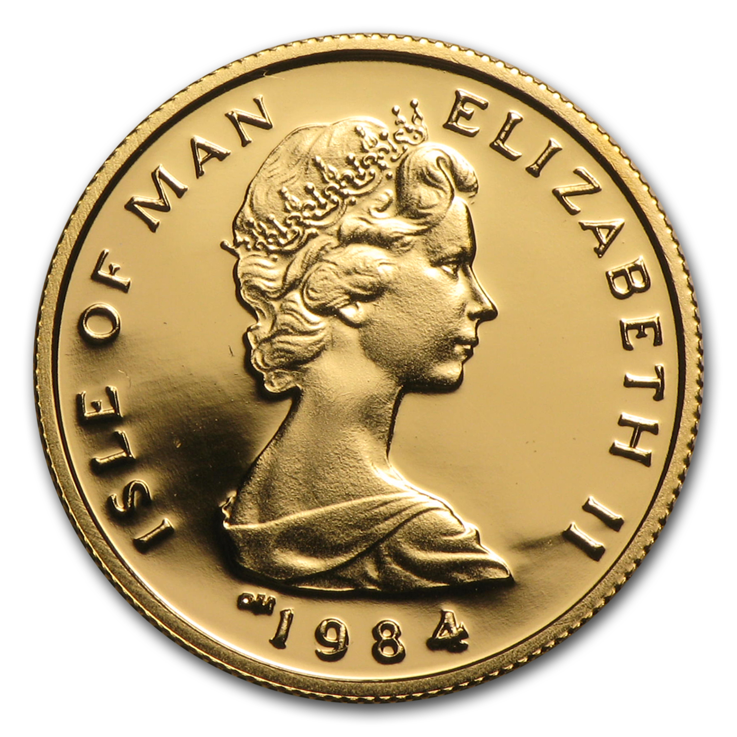 1984 Isle of Man 1/10 oz Gold Proof Angel