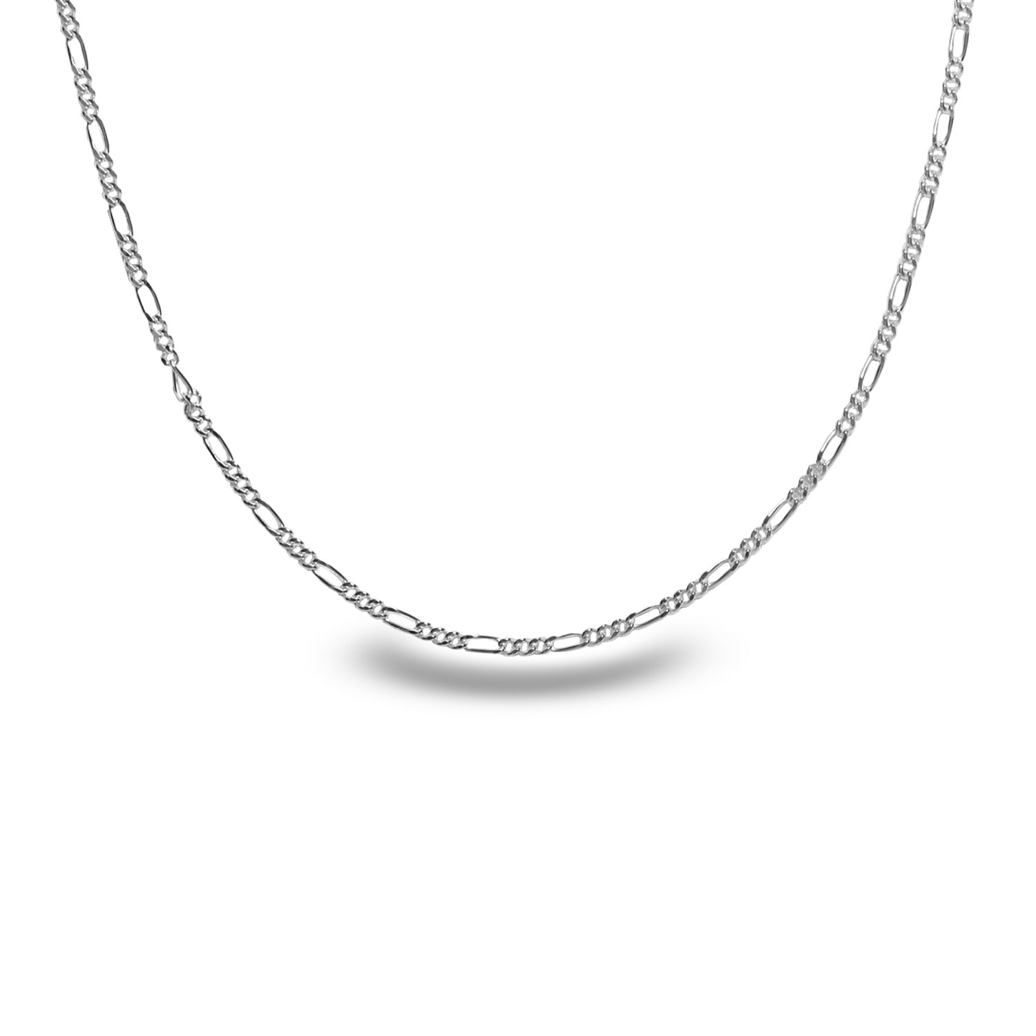 Figaro Sterling Silver Necklace - 24 in.