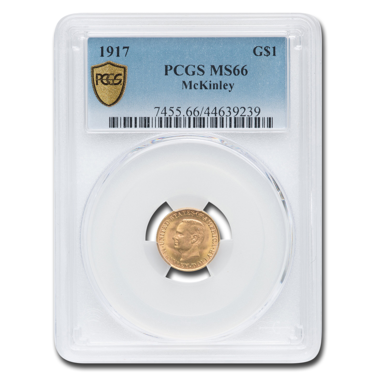 1917 Gold $1.00 McKinley MS-66 PCGS