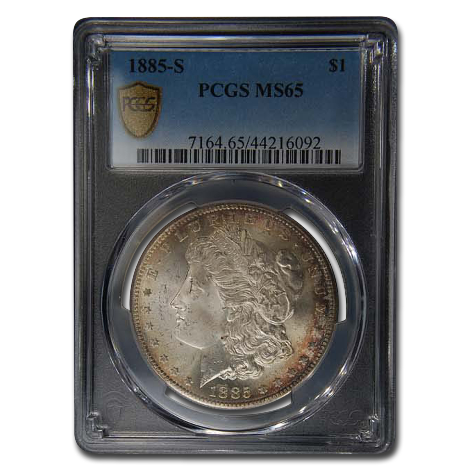 1885-S Morgan Dollar MS-65 PCGS (Toned)