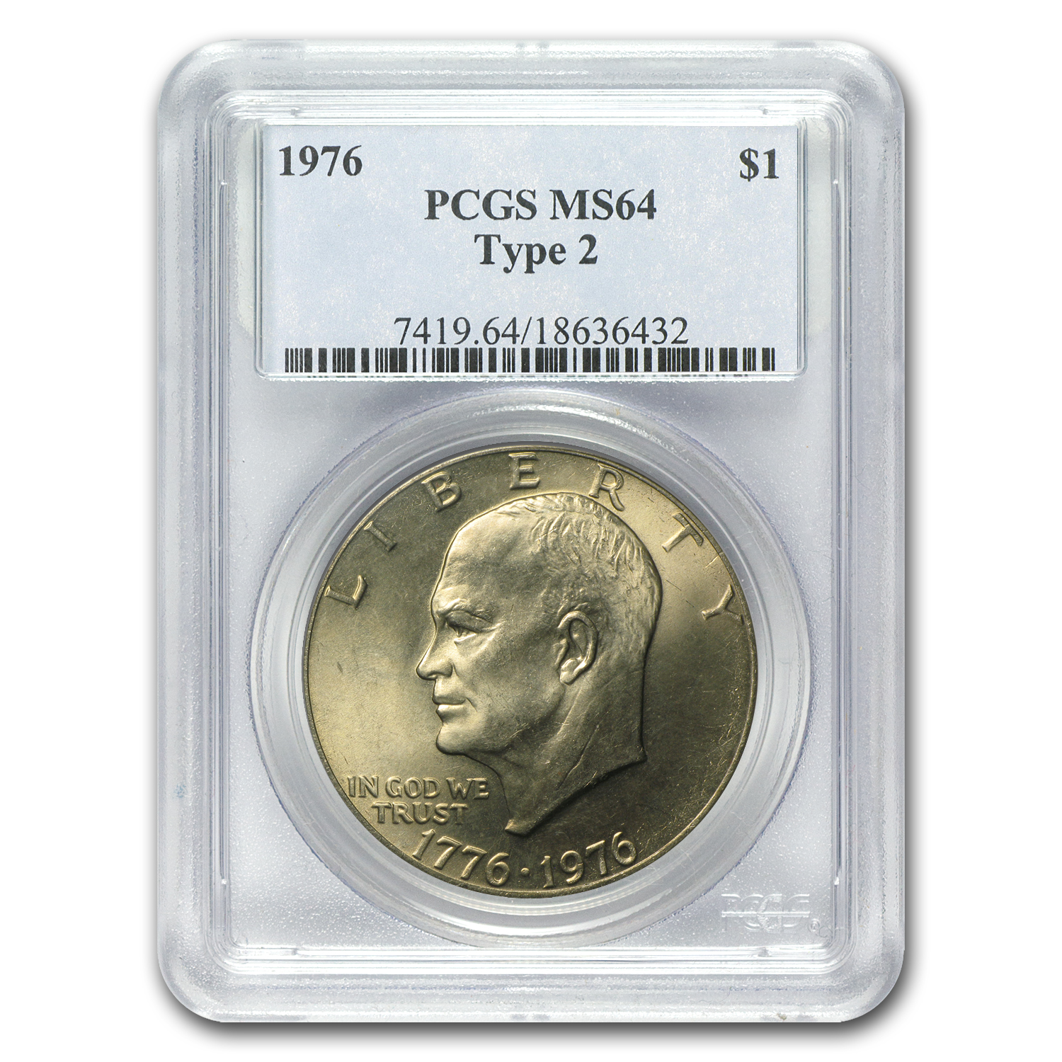 1976 Eisenhower Dollar Type-II MS-64 PCGS