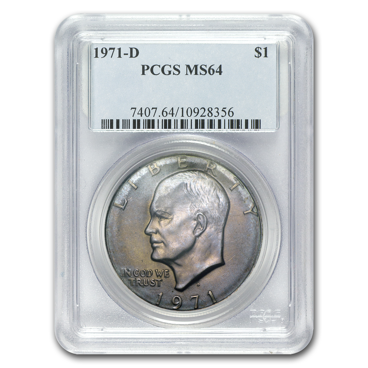 1971-D Clad Eisenhower Dollar MS-64 PCGS