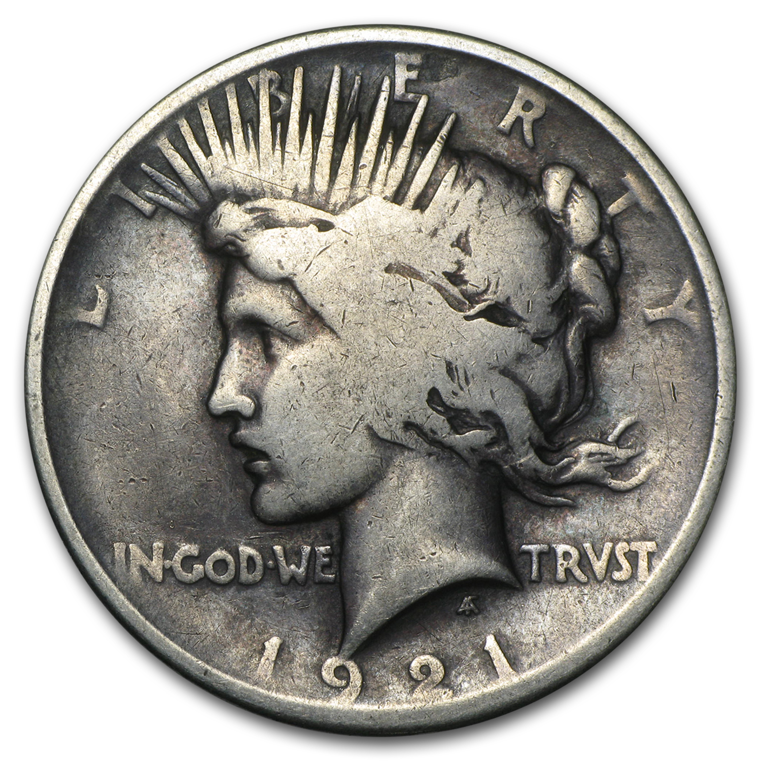 1921 Peace Dollar Good Details (High Relief, Damaged)