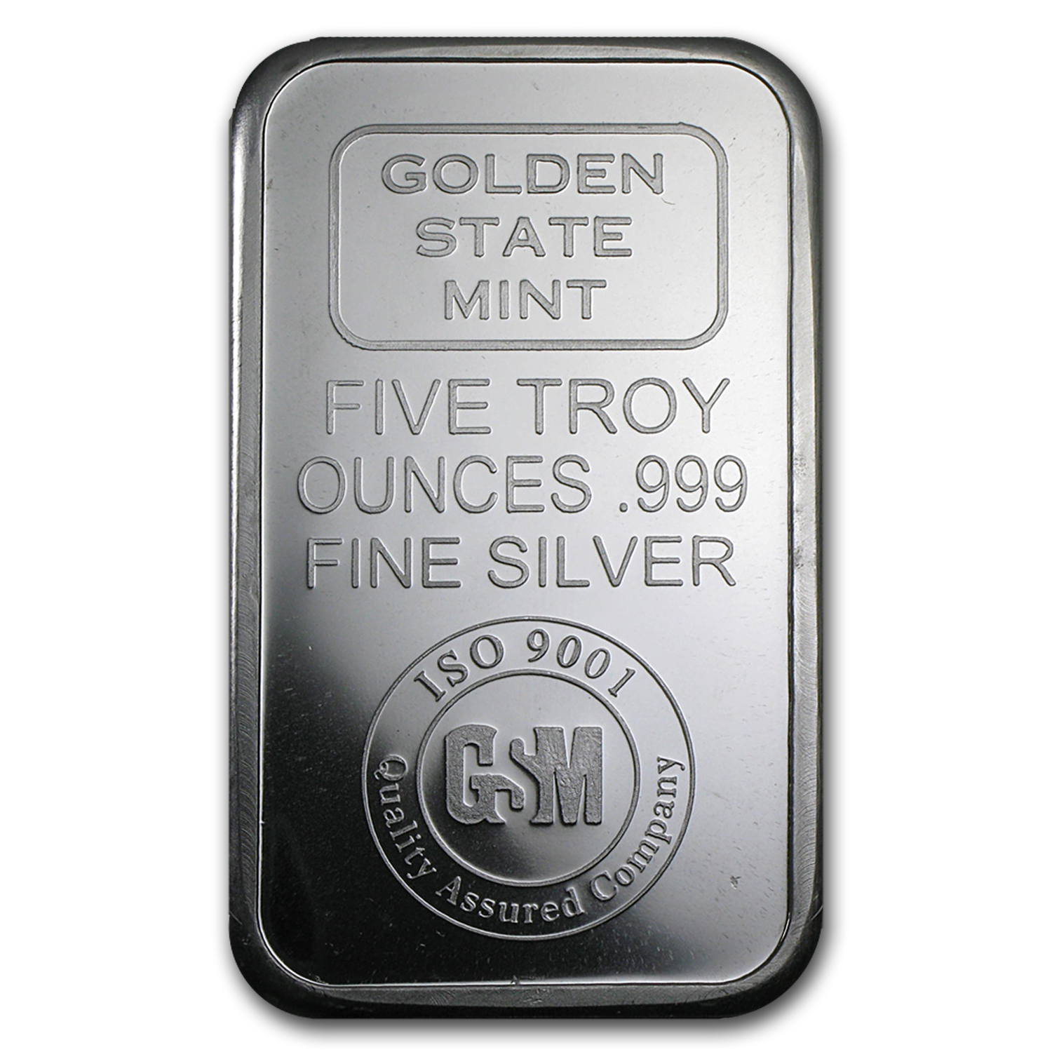 5 oz Silver Bar - Golden State Mint (ISO)
