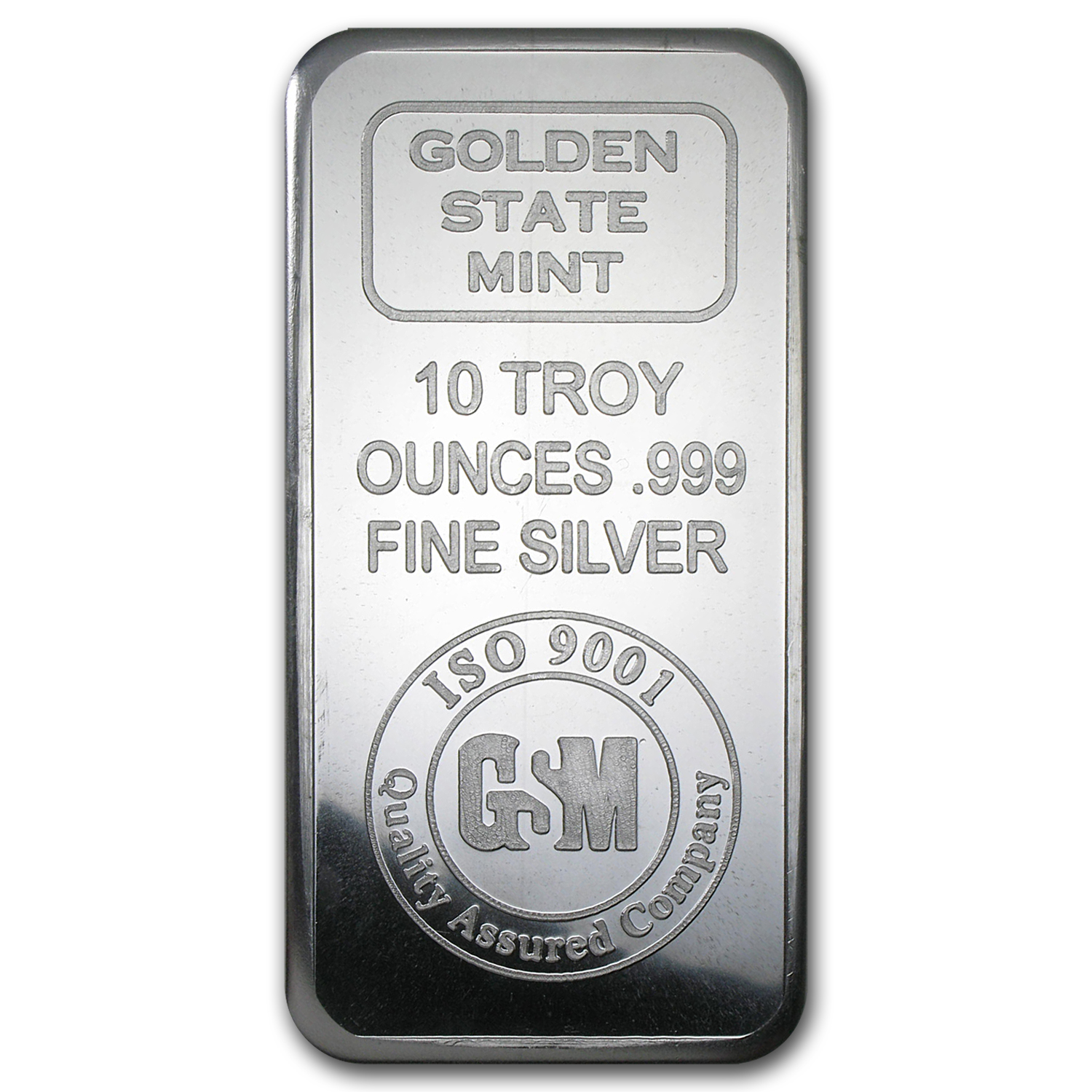 10 oz Silver Bar - Golden State Mint (ISO)