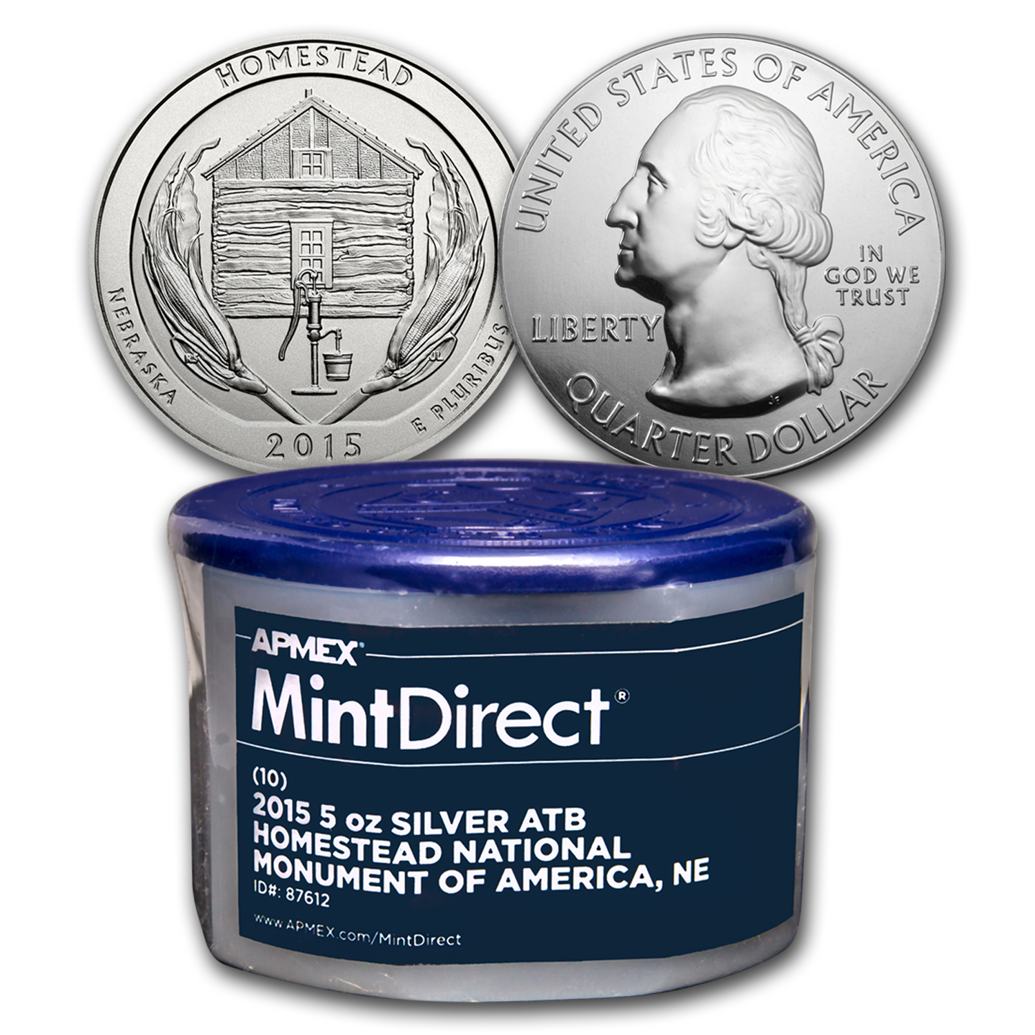 2015 5 oz Silver ATB Homestead (10-Coin MintDirect® Tube)