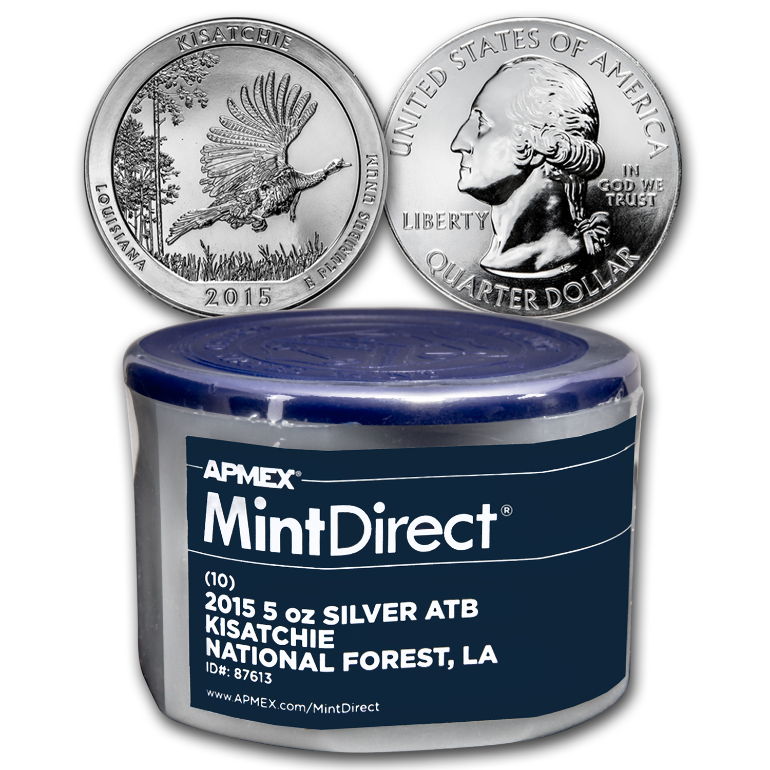 2015 5 oz Silver ATB Kisatchie (10-Coin MintDirect® Tube)