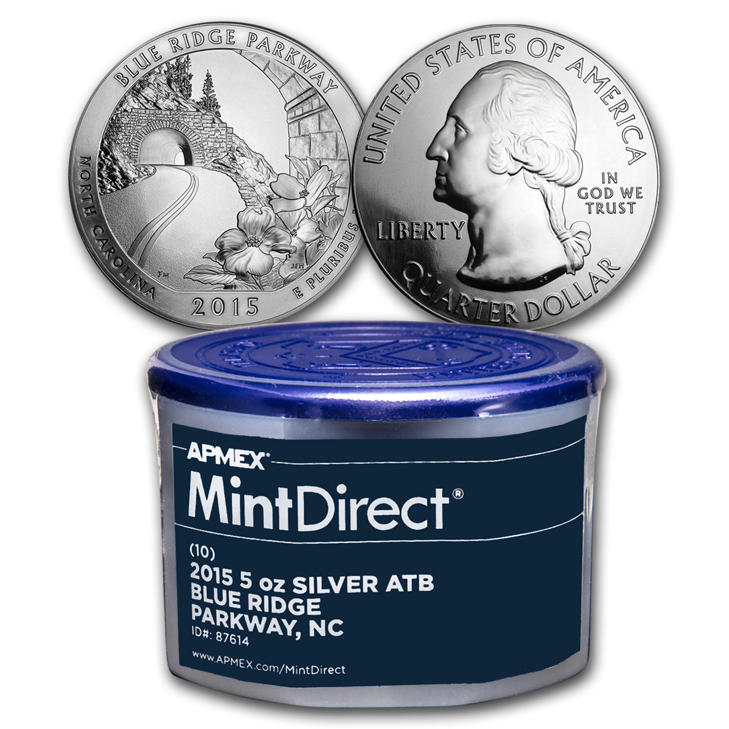 2015 5 oz ATB Blue Ridge Pkwy (10-Coin MintDirect® Tube)