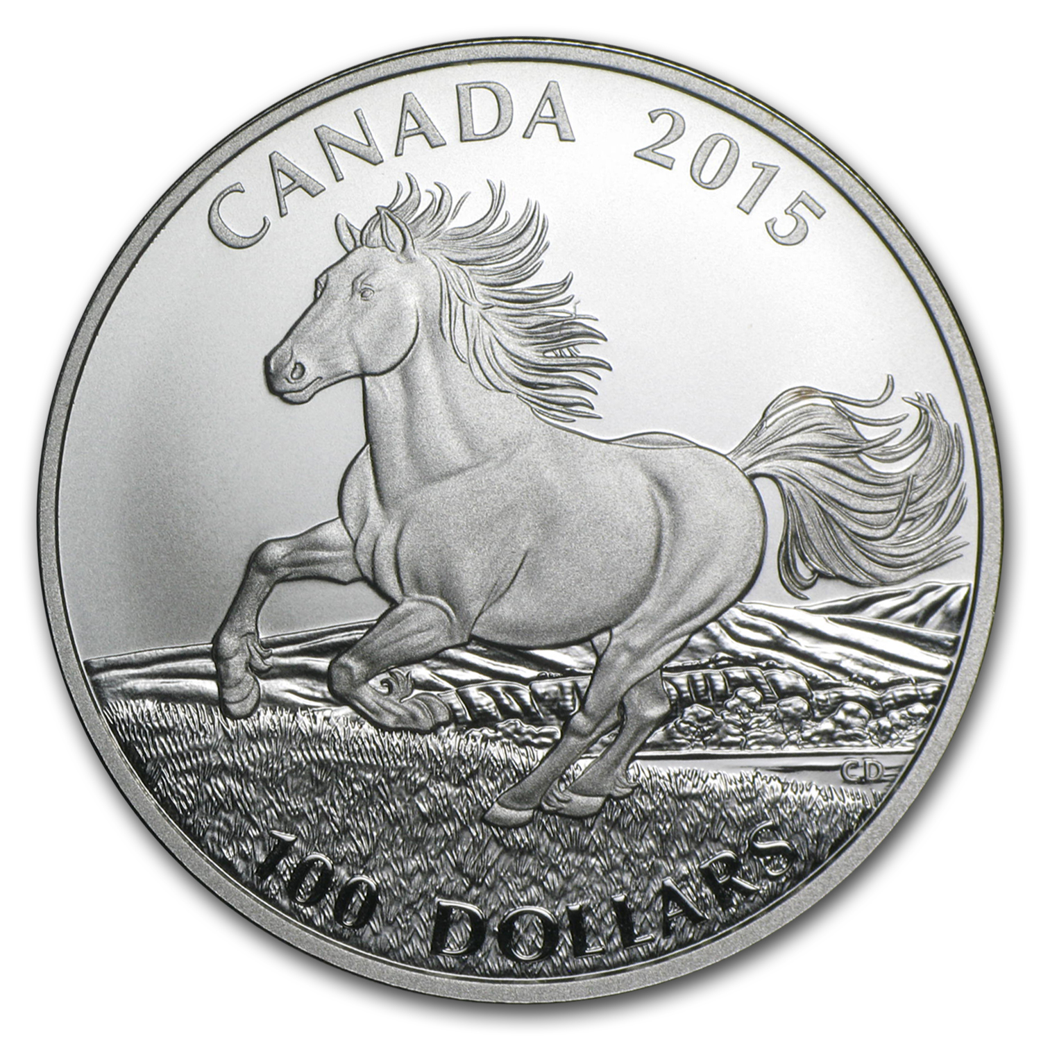 2015 Canada 1 oz Silver $100 for $100 (Canadian Horse)