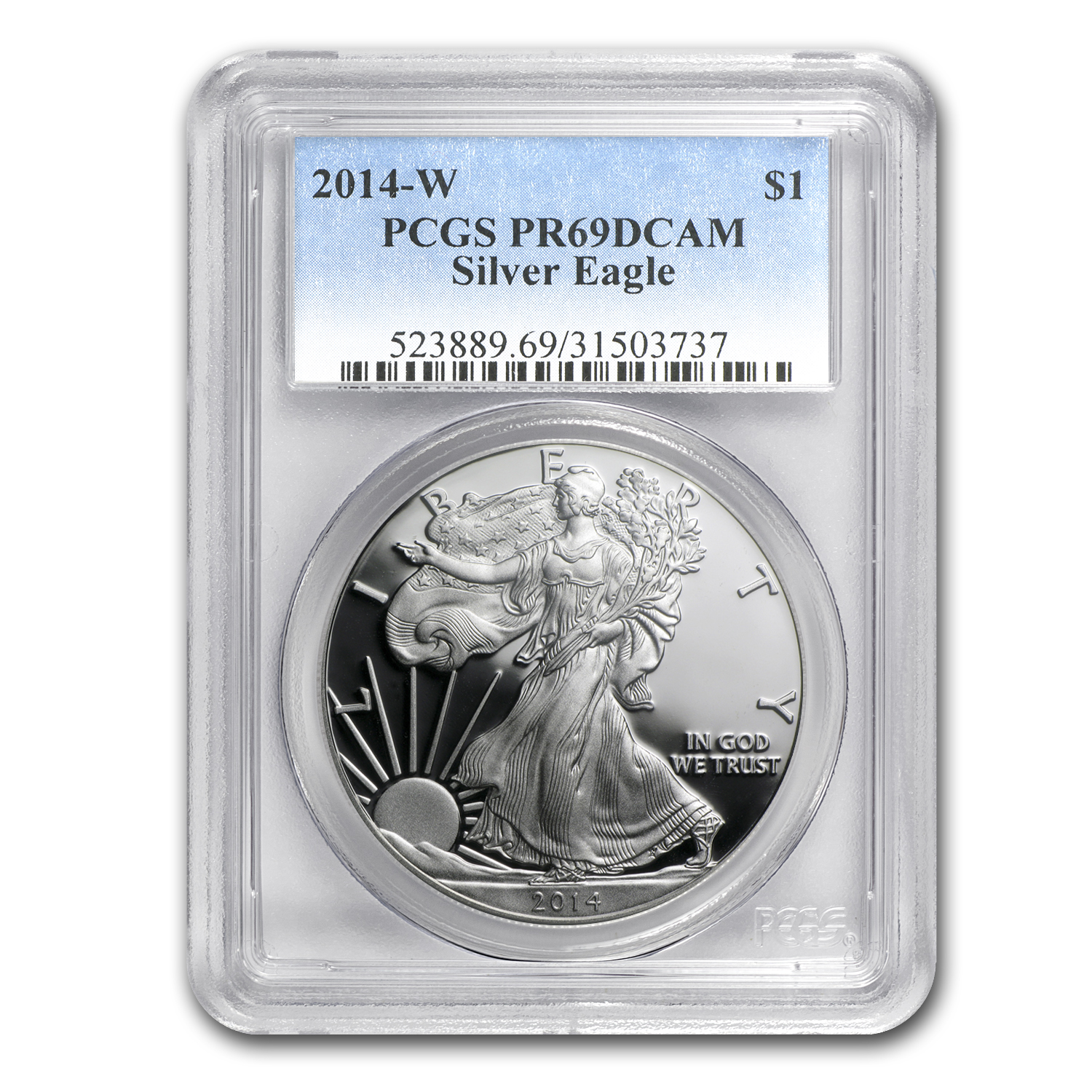 2014-W Proof Silver American Eagle PR-69 PCGS