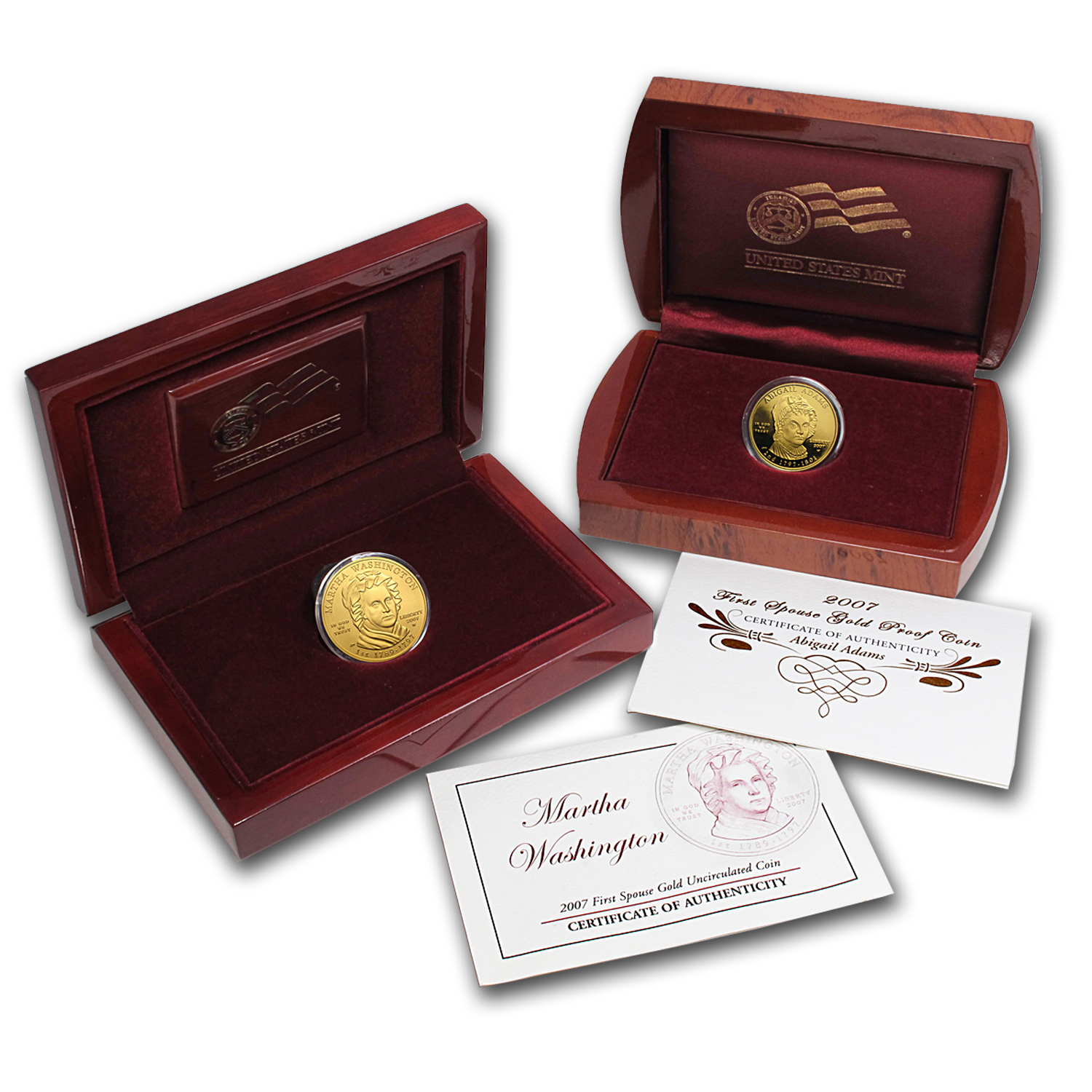1/2 oz Gold First Spouse Coins BU/PR (Random Year, w/Box & COA)