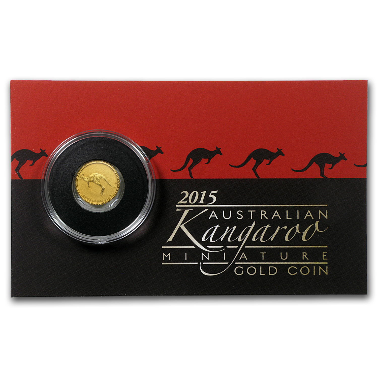 2015 Australia 1/2 Gram Gold Kangaroo Mini Roo BU (Assay Card)