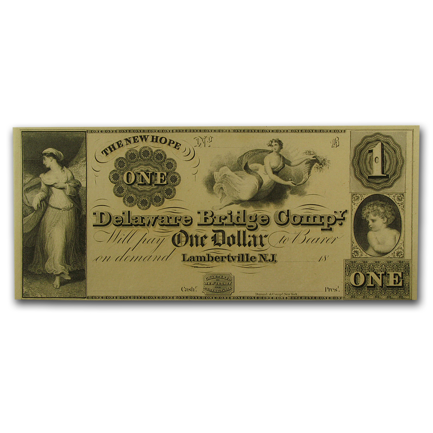 18__ Delaware Bridge Co of Lambertville, New Jersey $1 CU