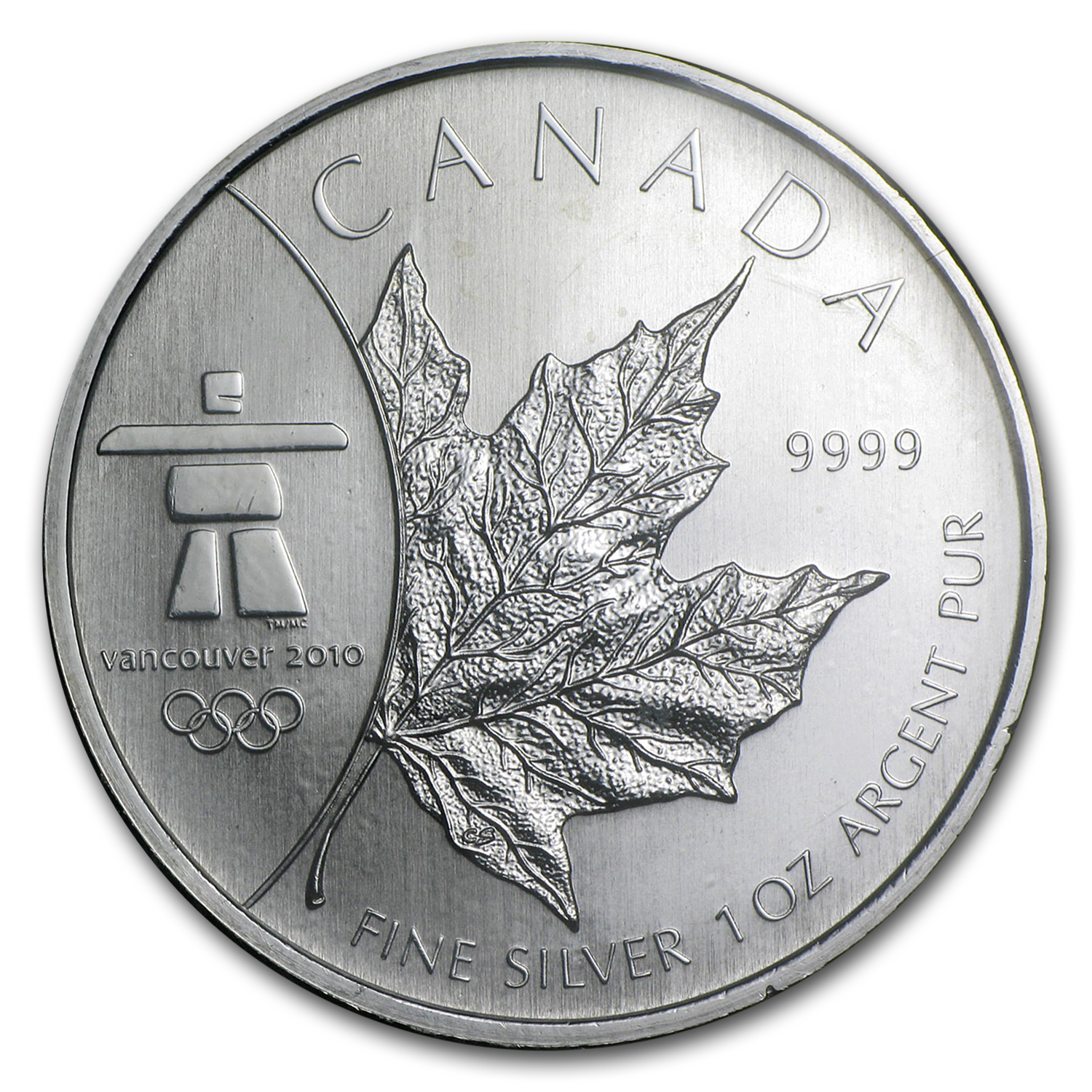 2008 Canada 1 oz Silver Olympic Inukshuk (Abrasions)