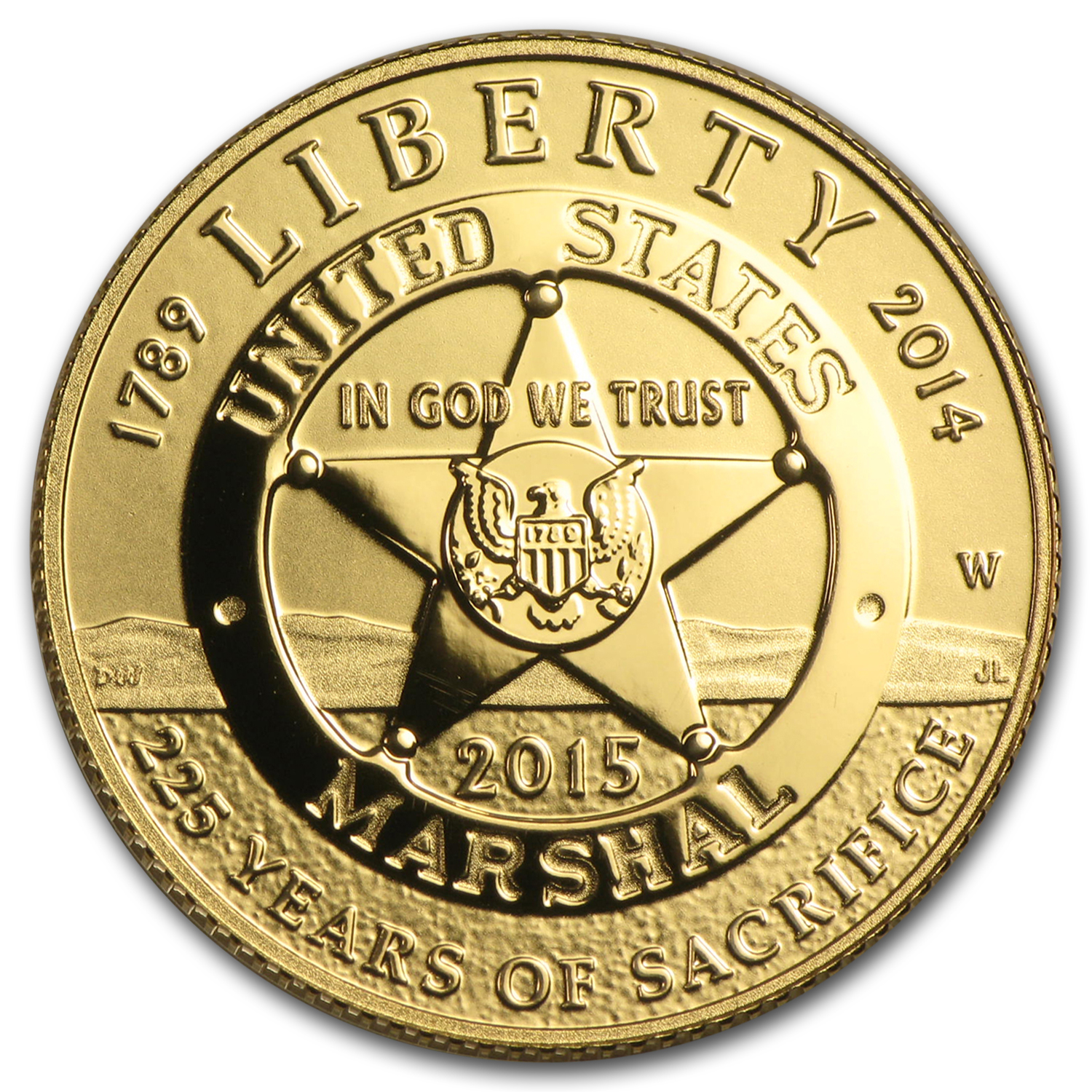 2015-W Gold $5 U.S. Marshals Service Proof (w/box & COA)