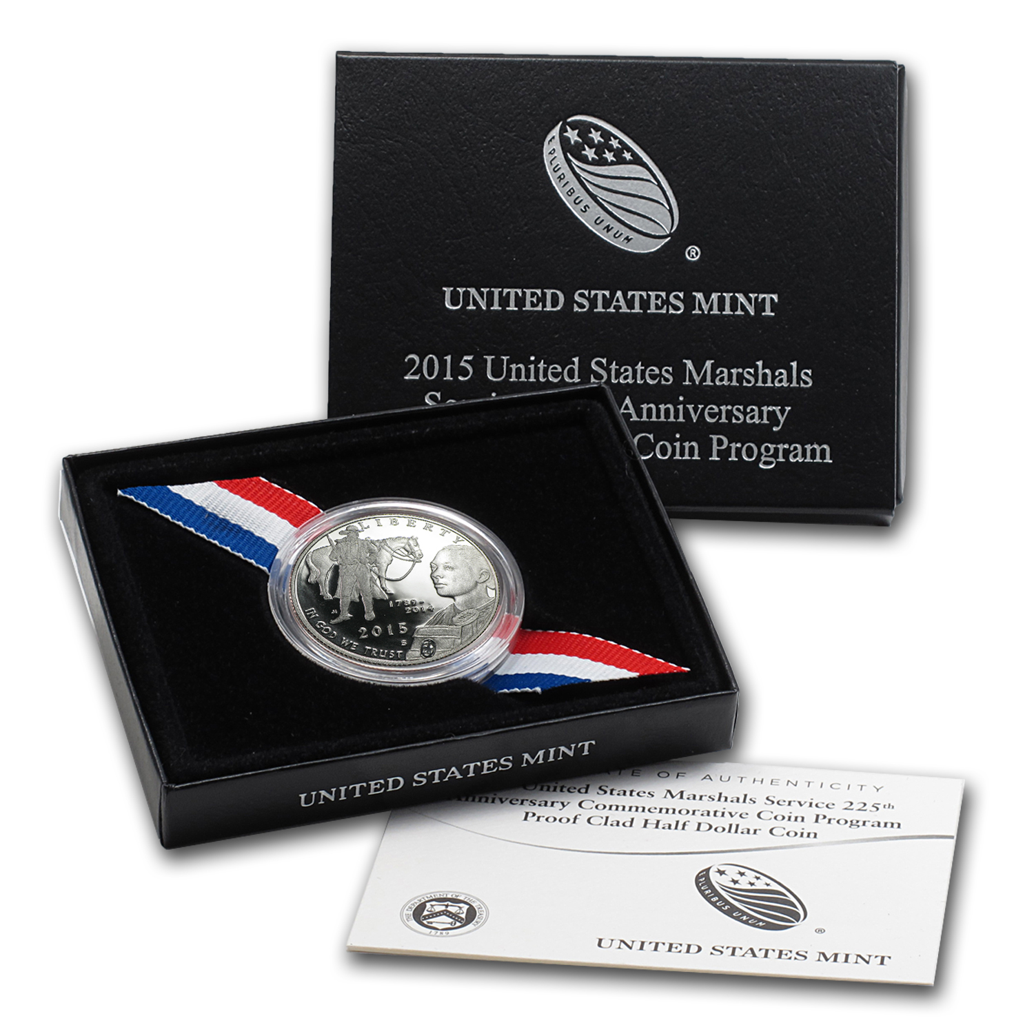 2015-S US Marshals Serv. 1/2 Dollar Clad Commem Prf (w/Box & COA)