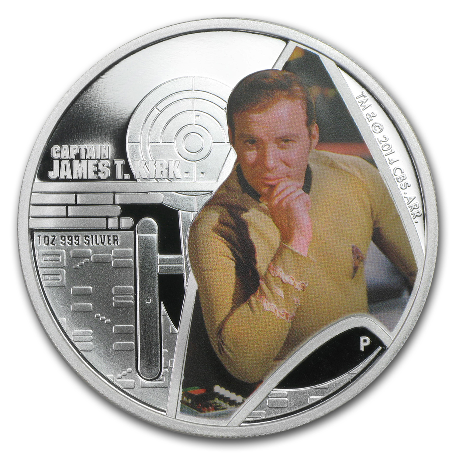 2015 Tuvalu 1 oz Silver Star Trek Colored Proof (Captain Kirk)