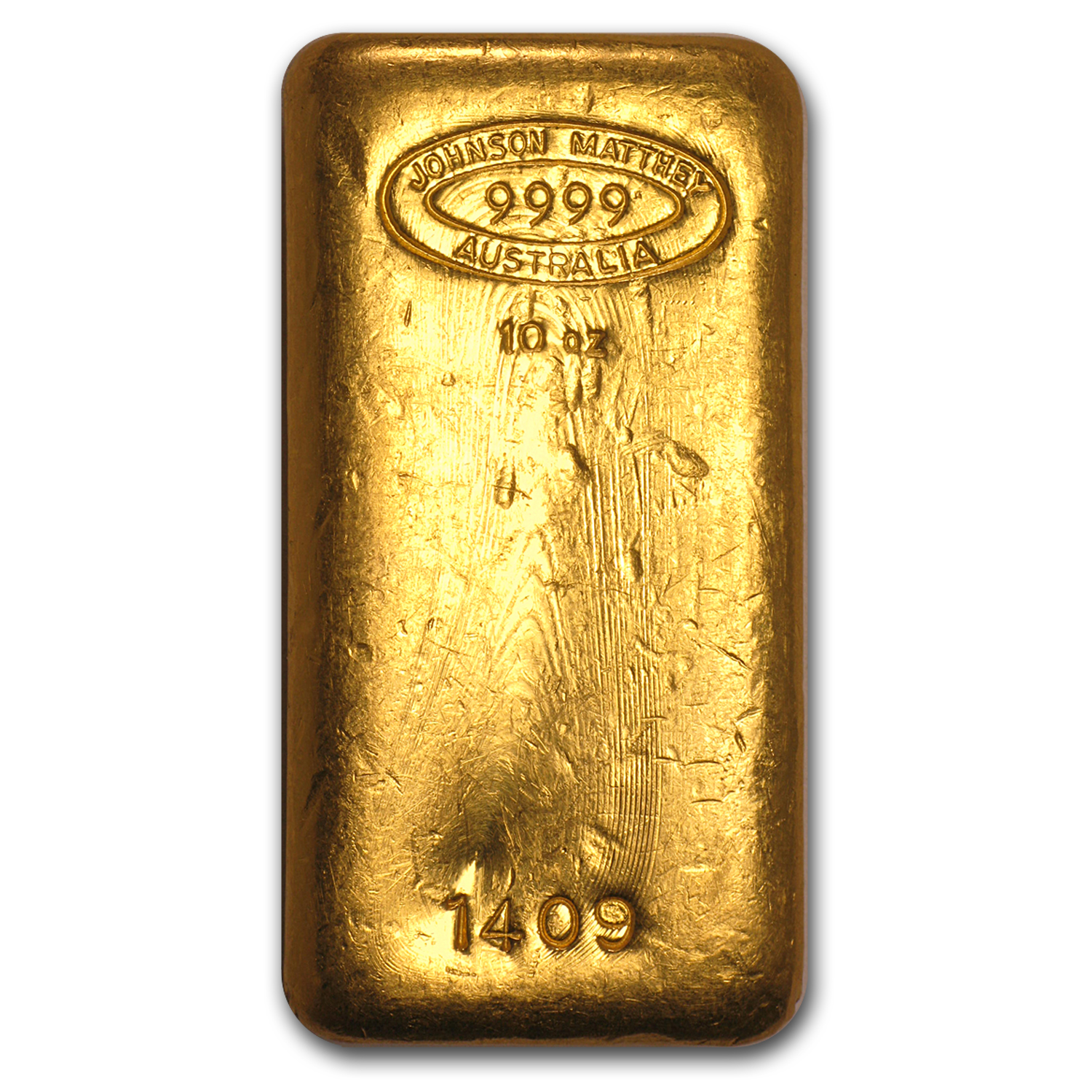 10 oz Gold Bar - Johnson Matthey (Poured, Australia)