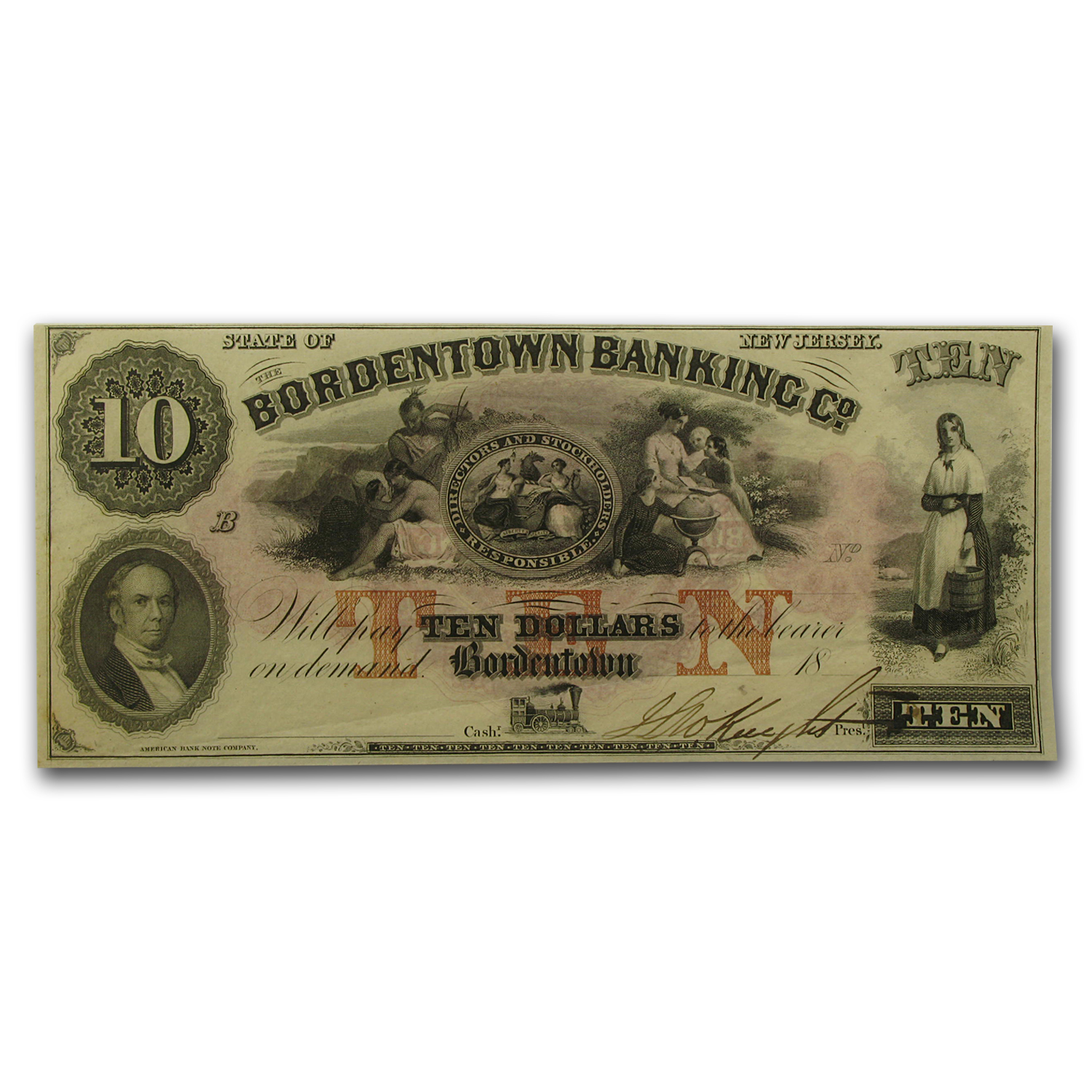 18__ Bordentown Banking Co of Bordentown, New Jersey $10 AU