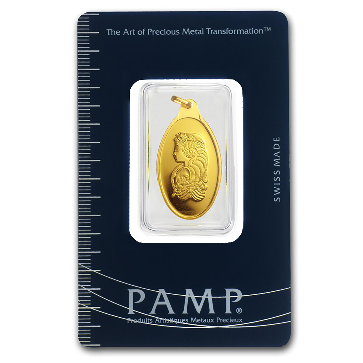 10 gram Gold Pendant - Pamp Suisse (Fortuna, Oval)