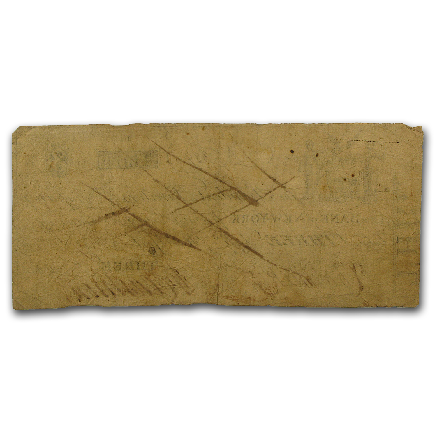 1817 Bank of New York, NY $3 VG (Cancelled)