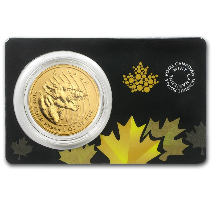 2015 Canada 1 oz Gold Growling Cougar .99999 BU