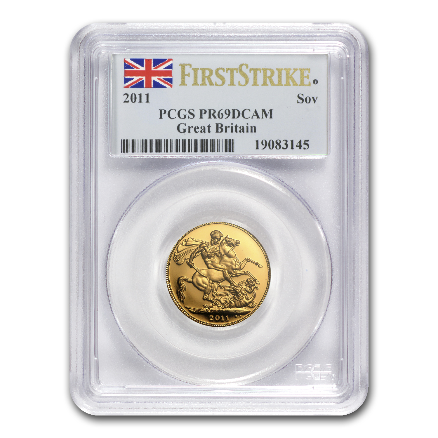 2011 Great Britain 4-Coin Gold Sovereign Set PR-69 PCGS (FS)