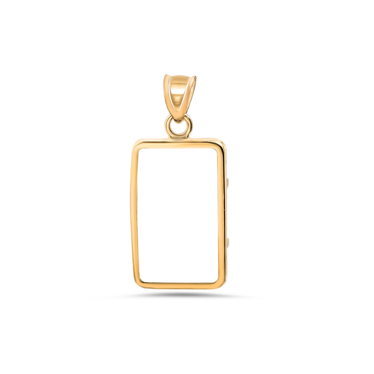 14K Gold Screw-Top Plain-Front Bezel (1 gram PS Gold Bar)