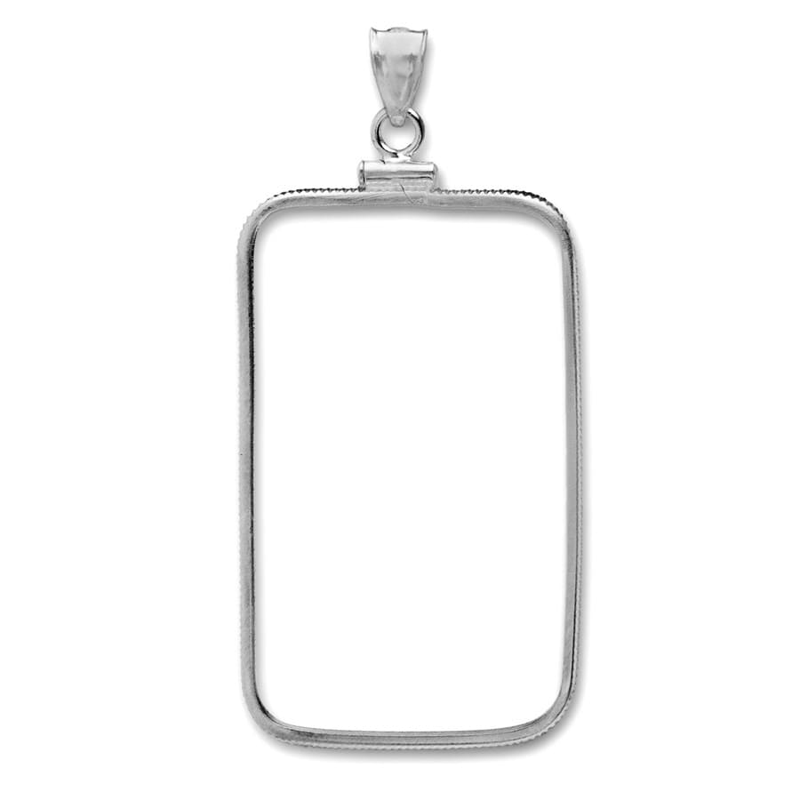 Sterling Silver Bezels (Fits 1 oz Silver Bars, Plain Front)