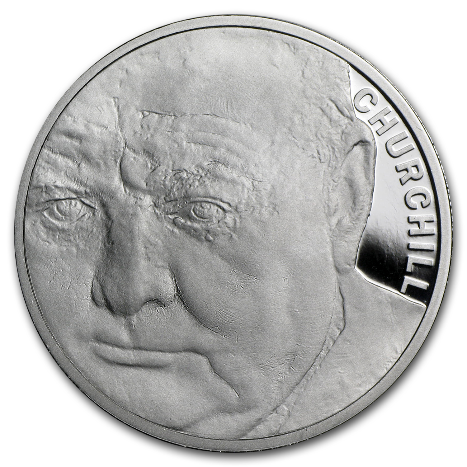2015 Great Britain £5 Platinum Winston Churchill Proof (Piedfort)