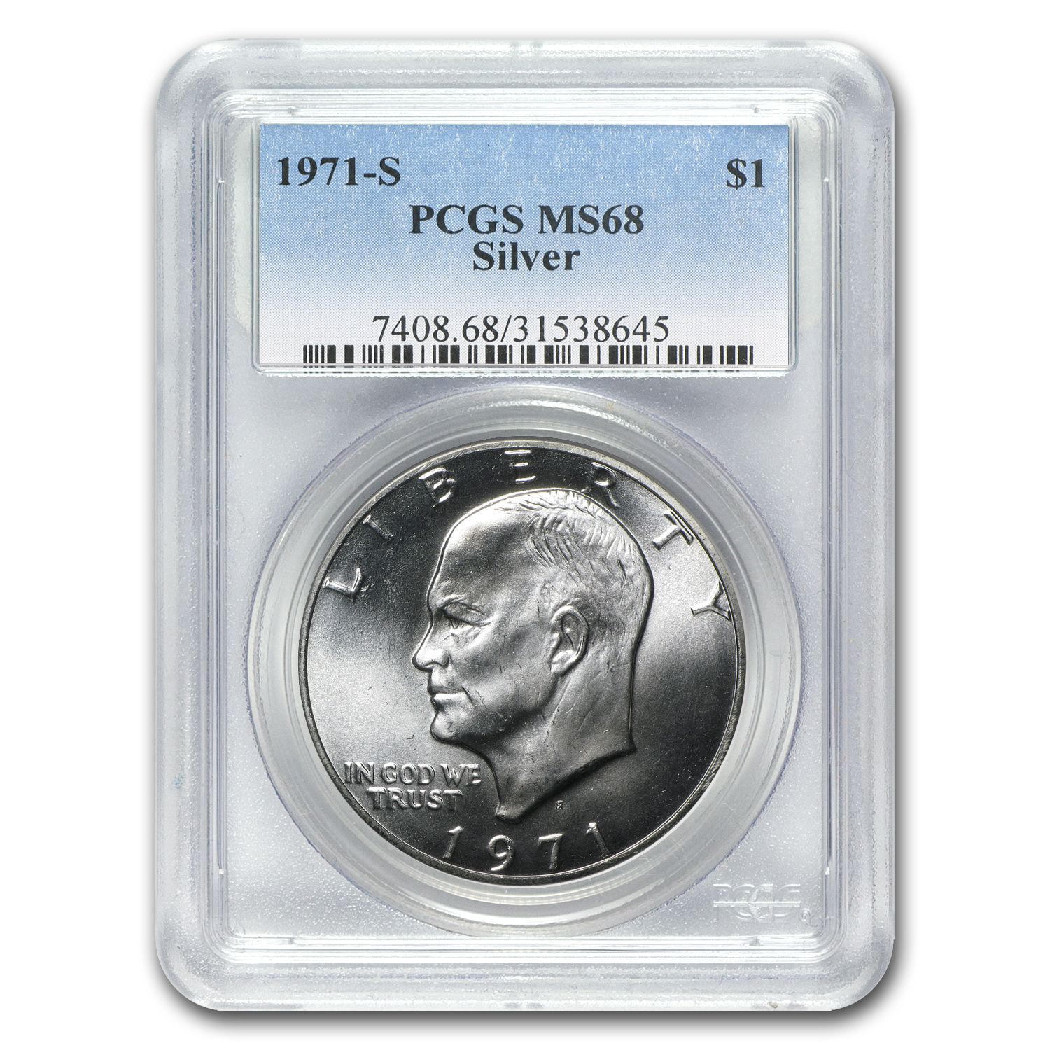 1971-S Silver Eisenhower Dollar MS-68 PCGS
