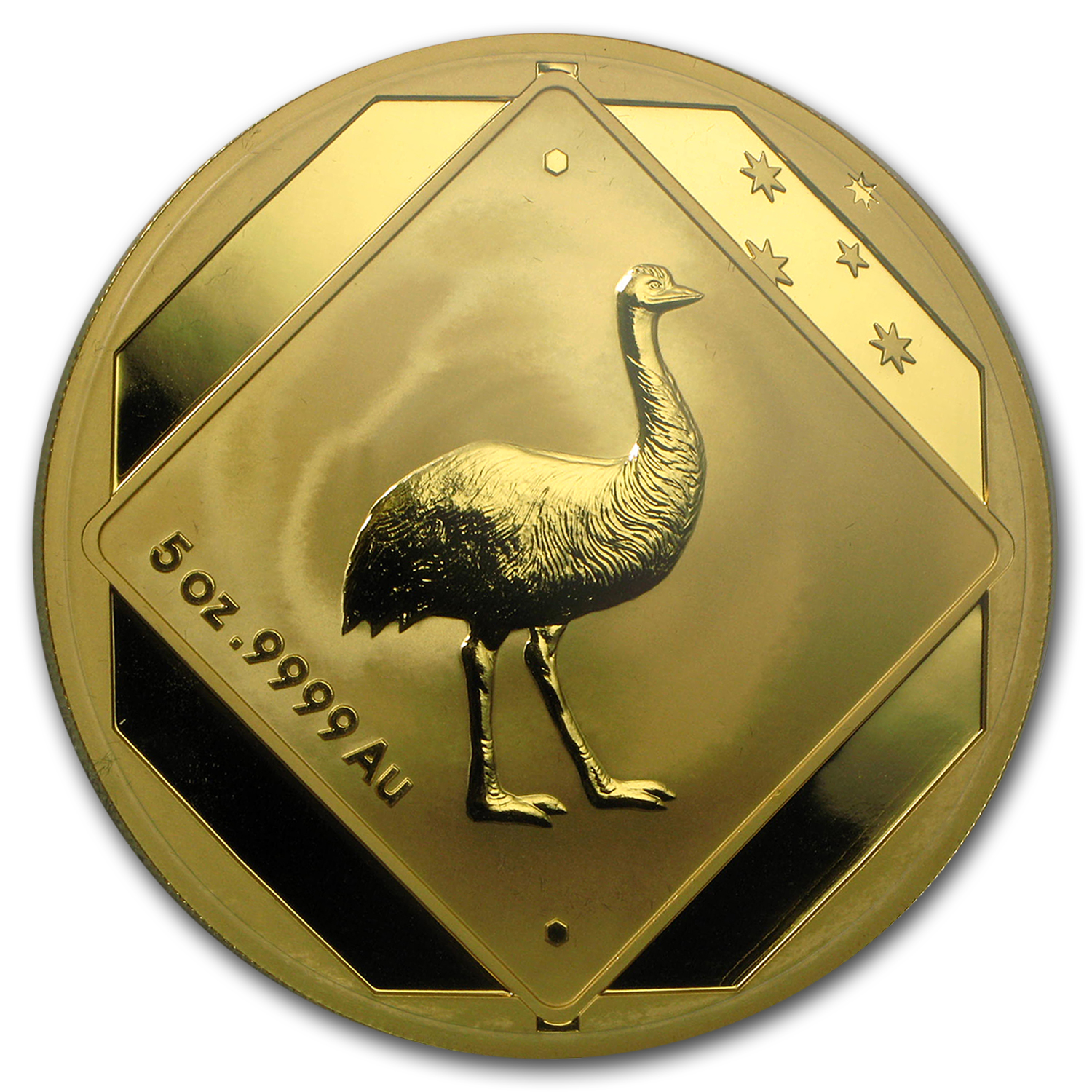 2015 Australia 5 oz Gold $500 Emu Road Sign BU