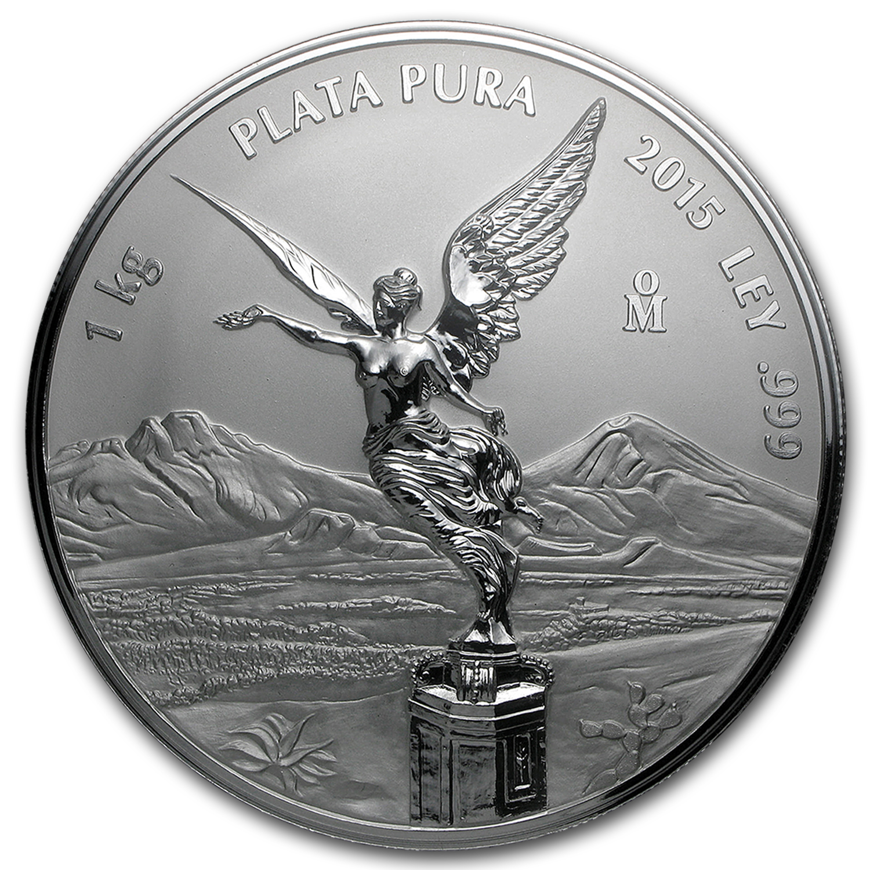 2015 Mexico 1 Kilo Silver Libertad Prooflike W Box Amp Coa