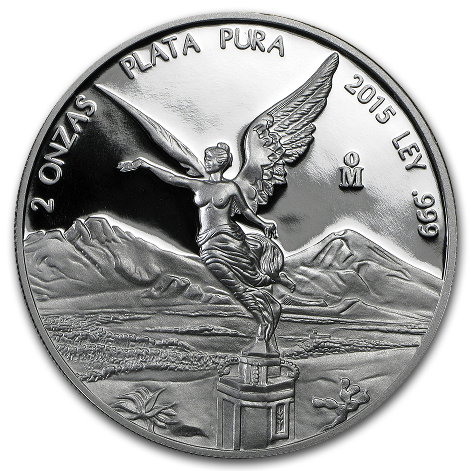 2015 Mexico 2 oz Silver Libertad Proof (In Capsule)
