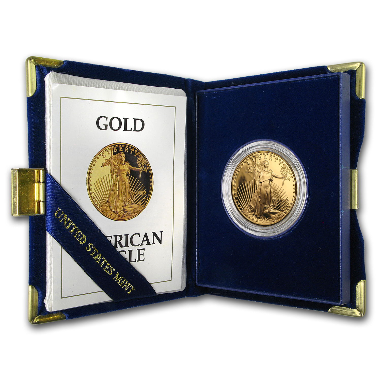 1992-W 1 oz Proof Gold American Eagle (w/Box & COA)