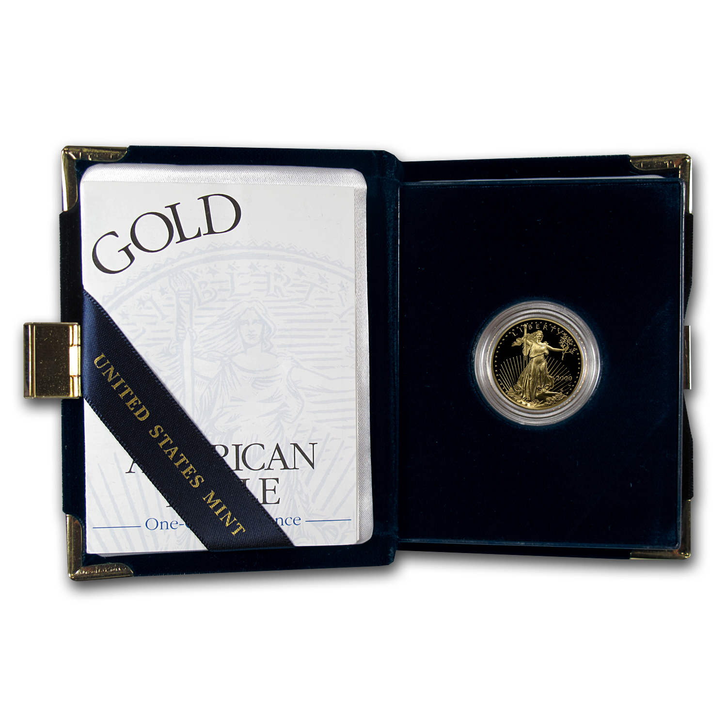 2000-W 1/4 oz Proof Gold American Eagle (w/Box & CoA)