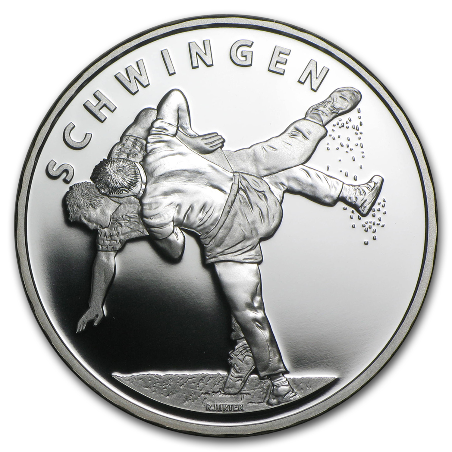 2013 Switzerland Proof Silver 20 CHF Swiss Wrestling