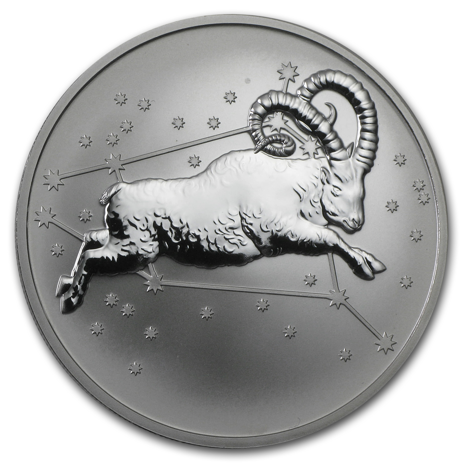 2015 Tokelau 1 oz Silver $5 Aries, the Ram Reverse Proof