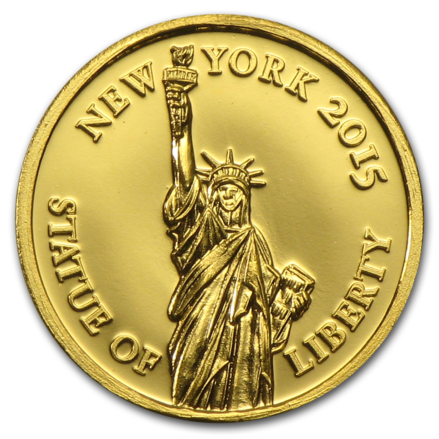 2015 Burundi Gold 100 Francs Statue of Liberty
