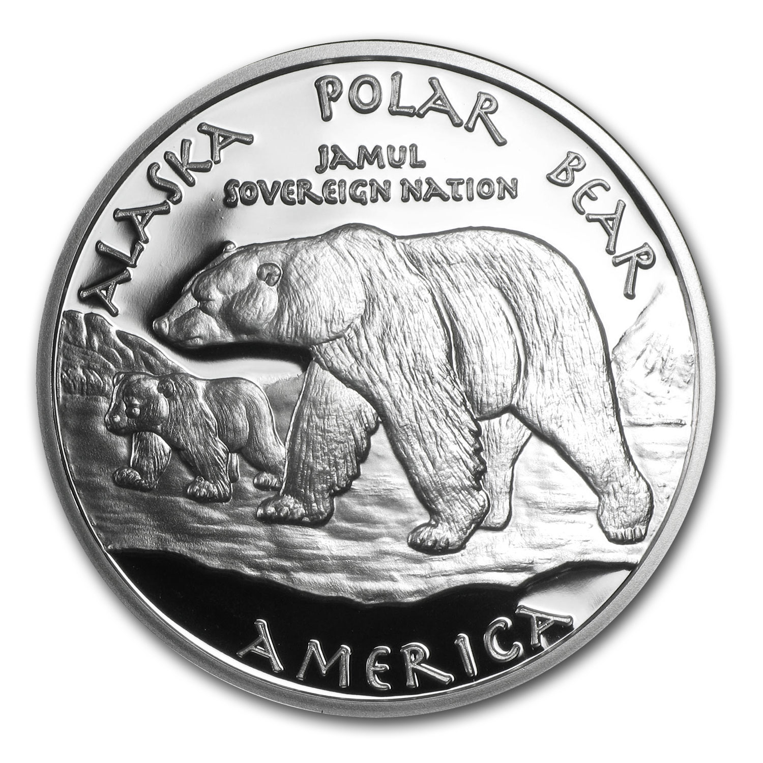 2015 1 oz Silver Eskimo and Polar Bear Proof