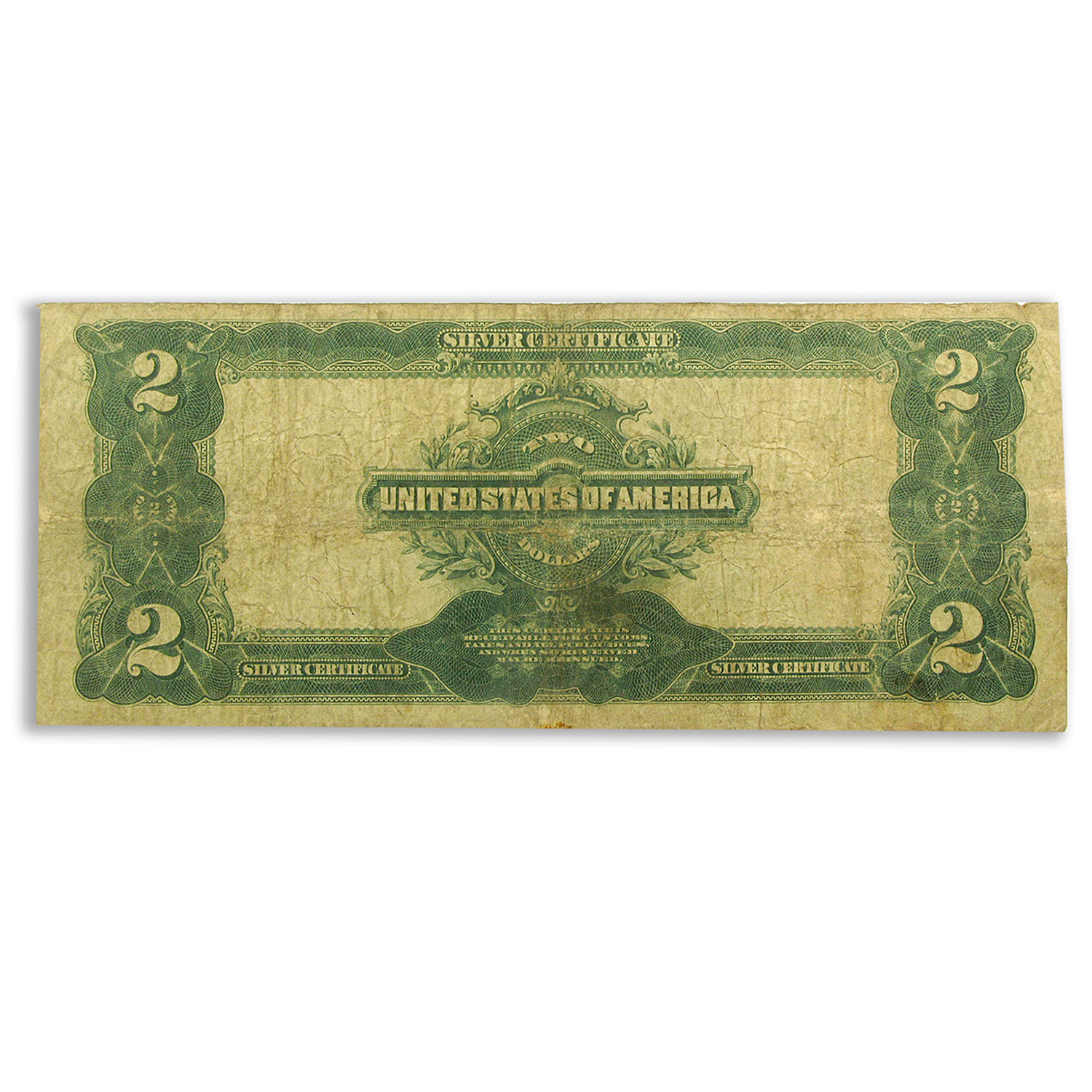 1899 $2.00 Silver Certificate VG