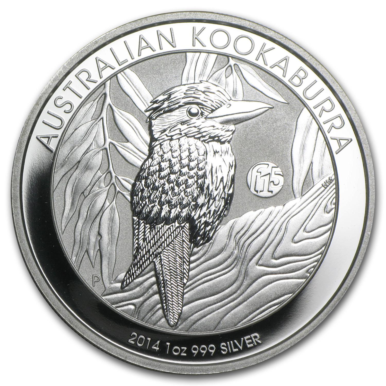 2014 Australia 1 Oz Silver Kookaburra Bu F15 Privy