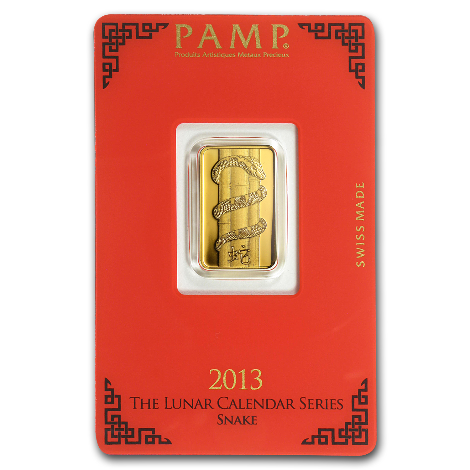 5 gram Gold Bar - Pamp Suisse Year of the Snake (In Assay)