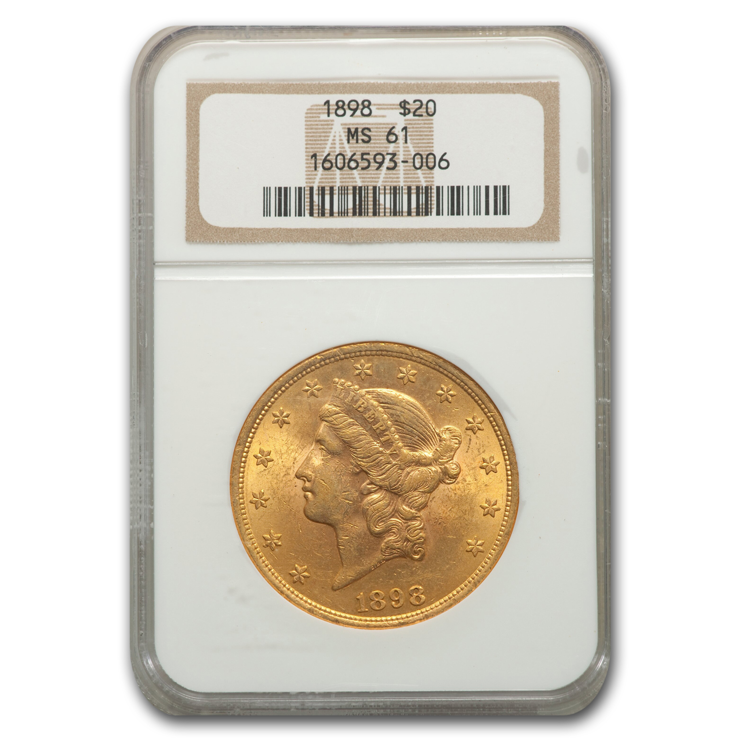 1898 $20 Liberty Gold Double Eagle MS-61 NGC