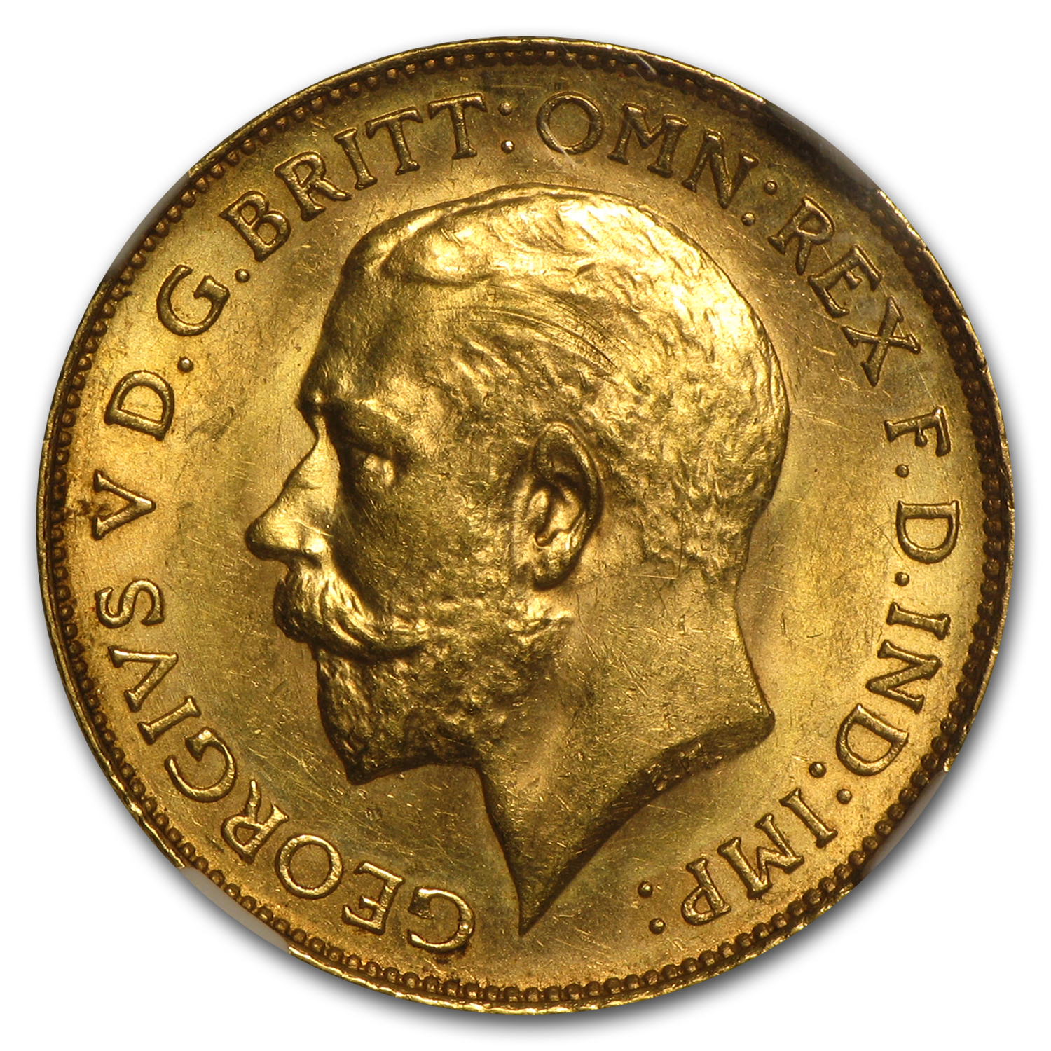 1925-SA South Africa Gold 1/2 Sovereign George V MS-63 NGC