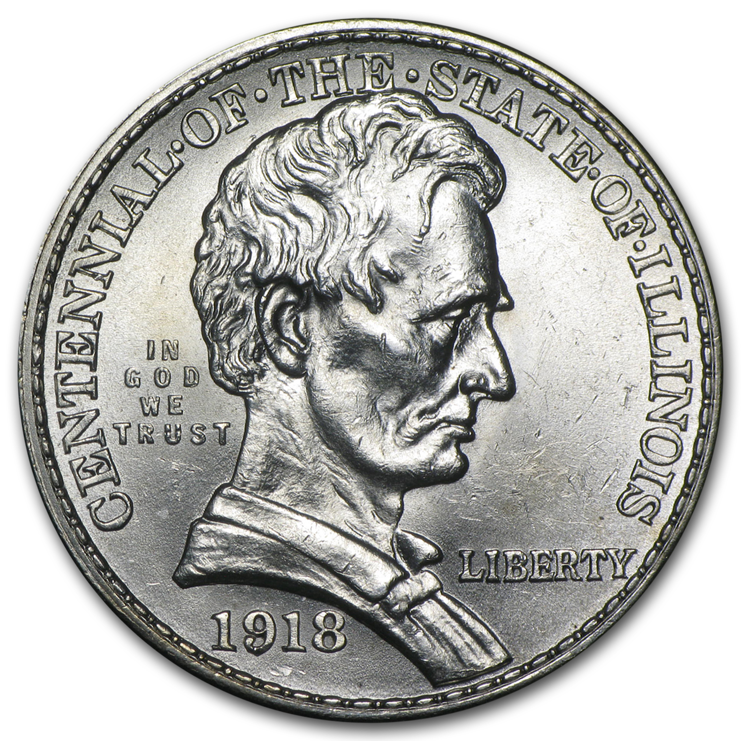 1918 Lincoln Commemorative Half Dollar BU