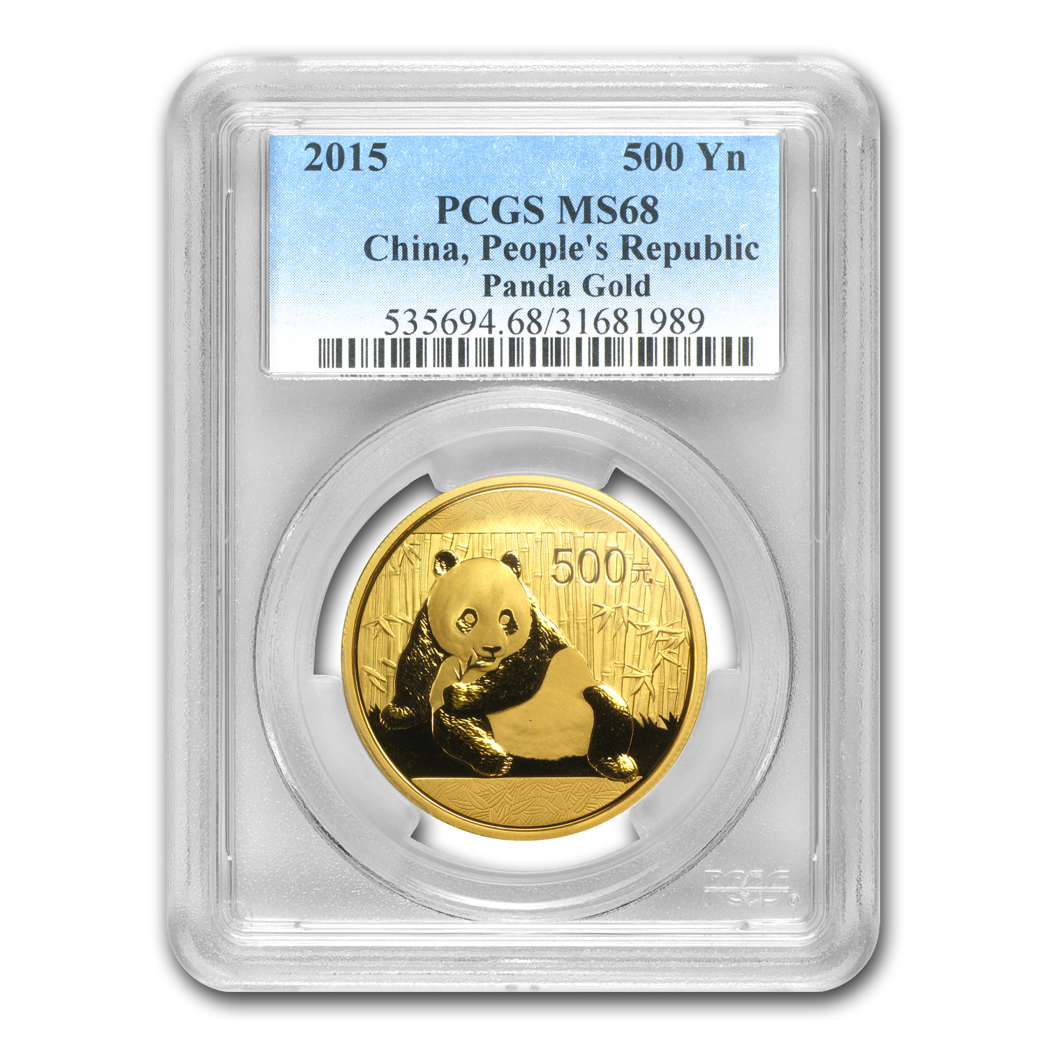 2015 China 1 oz Gold Panda MS-68 PCGS
